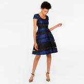 Paul Smith Women's Blue And Black Sheer-Stripe Dress