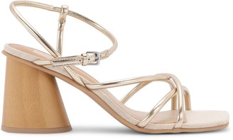 Dolce Vita Harper Metallic Block-Heel Sandals