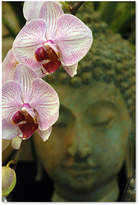 "'Orchids and Buddha' Canvas Print by Kurt Shaffer, 16"" x 24"
