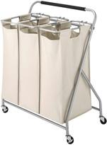 Whitmor Triple Sorter Rolling Laundry Cart