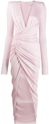 Alexandre Vauthier Side-Gathered Draped Dress