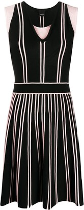 Pinko Contrast Pleat Fine Knit Dress