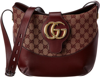 Gucci Arli Medium Gg Canvas & Leather Shoulder Bag