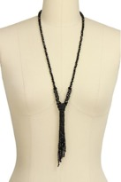 Saachi Crystal Knotted Tassel Necklace.