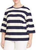 Lauren Ralph Lauren Plus Striped Bell-Sleeve Tee