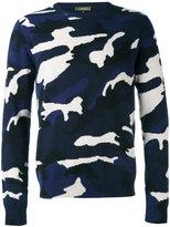 Valentino camo-print jumper