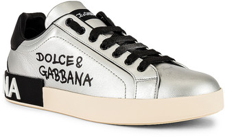 Dolce & Gabbana Low Top Sneaker in Silver | FWRD
