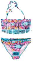 Vigoss Halter Fringe Bandeau 2-Piece Swimsuit Set (Big Girls)