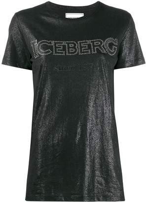Iceberg studded logo sheen T-shirt