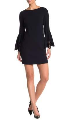 Elie Tahari Camile Mesh Twist Front Midi Dress