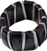 Faux Wood Stretch Bangle Bracelet