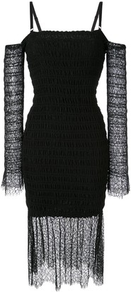 Dion Lee Shirred Lace Dress