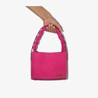 Jacquemus Pink Le Sac Noeud Suede Tote Bag