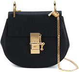 Chloé Mini Black Textured Leather Drew Shoulder Bag - women - Lamb Skin/Suede/Metal (Other) - One Size