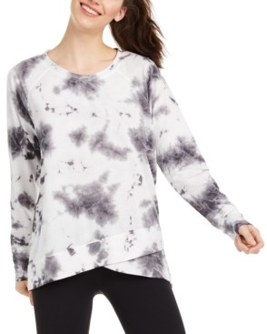 Ideology Tie-Dyed Crossover Hem Top, Created for Macy's