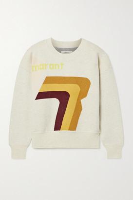 Etoile Isabel Marant Klero Intarsia Cotton-blend Sweater - Ecru