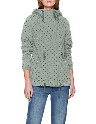 Only Women's Onltina Short Spring Parka OTW Coat, Chinois Green AOP:DOTS, 8 (Size: X-Small)