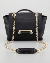 440 Mini Flap-Top Crossbody Bag, Black