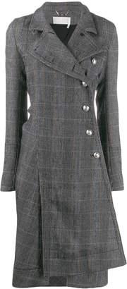 Chloé asymmetric checked coat