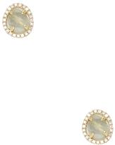 Meira T Women's 14K Yellow Gold, Amazonite & 0.18 Total Ct. Diamond Stud Earrings