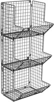 Sorbus 3 Tier Wall Mounted Storage Rack - Black