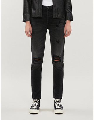 Boyish The Billy distressed skinny high-rise jeans