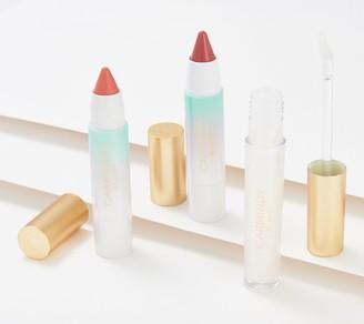 Carmindy Beauty Brilliant Shine Lip Topper & Lip Crayon 3-Piece Kit