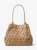 Michael Kors Brooklyn Large Leather And Canvas Tote