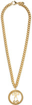 Moschino Gold-tone faux pearl necklace
