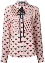 Markus Lupfer all-over bee print shirt - women - Silk - M