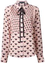 Markus Lupfer all-over bee print shirt - women - Silk - M
