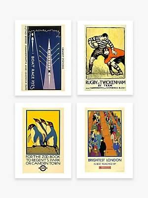Unbranded London Transport Museum - Vintage Posters Unframed Prints & Mounts, Set of 4, 40 x 30cm, Assorted
