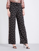 Alice + Olivia Alice & Olivia Benny relaxed-fit high-rise crepe trousers