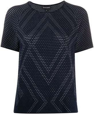 Emporio Armani Perforated Knit Top