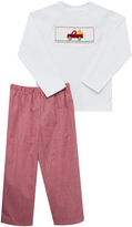 Red Car & Ornament Smocked Tee & Pants - Infant, Toddler & Boys