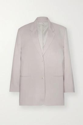Frankie Shop Pernille Oversized Woven Blazer - Light gray