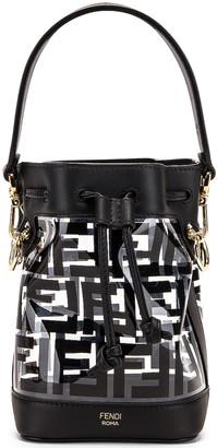 Fendi Mini Mon Tresor Logo Crossbody Bag in Black | FWRD