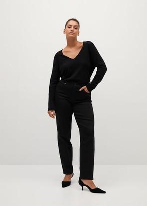 MANGO Lace detail sweater