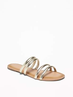 Old Navy Metallic Faux-Leather Tubular-Strap Sandals for Women