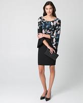 Le Château Floral Knit Drama Sleeve Dress