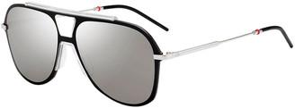 Christian Dior Men's Metal-Trim Oversize Aviator Sunglasses