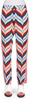 Kenzo Mixed-Print Straight-Leg Pants, Peach/Multicolor