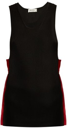 Wales Bonner Scoop-neck Striped Tank Top - Womens - Black Red
