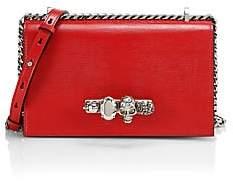 Alexander McQueen Women's Skull Jeweled Leather Satchel