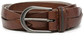 Brunello Cucinelli Monili Twist Leather Belt