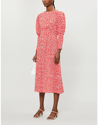NEVER FULLY DRESSED Delores floral-print cotton-blend midi dress