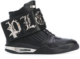 Philipp Plein ́Bye` hi-top sneakers - men - Calf Leather/Leather/rubber - 42