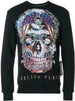 Philipp Plein multicoloured skull print sweatshirt