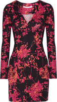 Diane von Furstenberg Reina printed silk-jersey mini dress