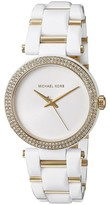 Michael Kors MK4315 Delray Acetate / Gold Stainless Steel with White Dial 36mm Womens Watch